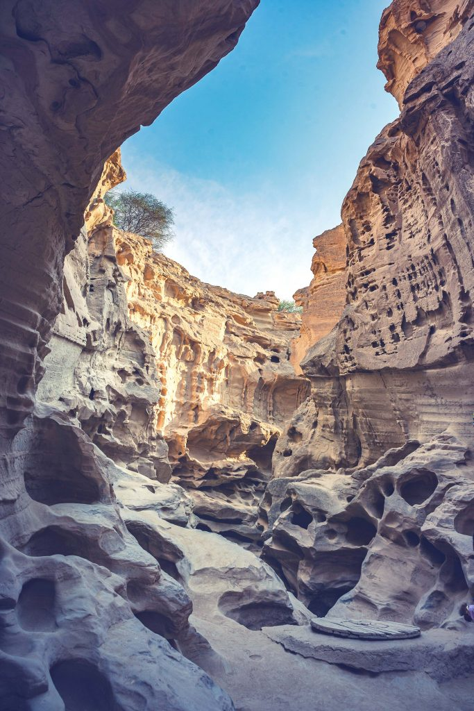 Chahkooh Canyon on Qeshm Island, Iran.