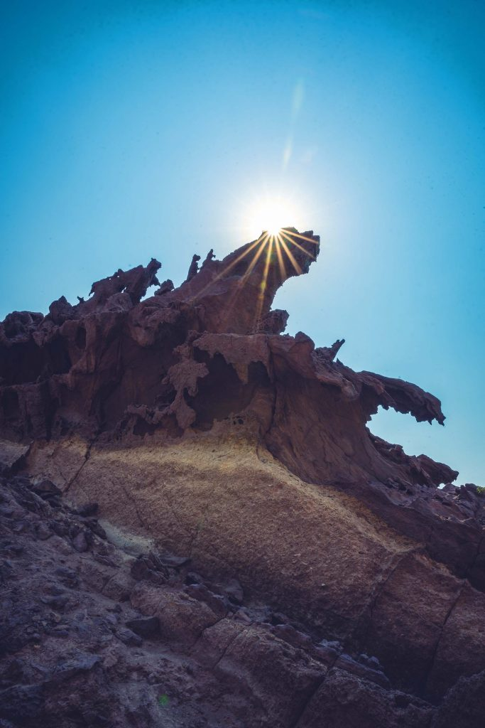 The Valley of the Statues on Hormuz Island, Iran.